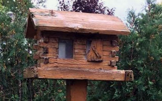 Cedar bird feeder lasts for decades!
